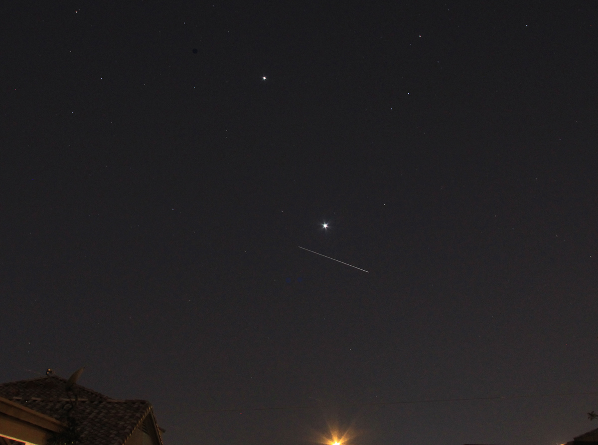 Space station viewable naked eye